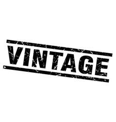 Square grunge black vintage stamp vector
