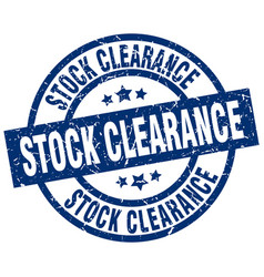 stock clearance blue round grunge stamp vector image vector image