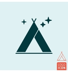 Tent icon isolated vector image vector image