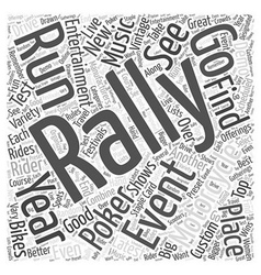 What is a motorcycle rally word cloud concept vector