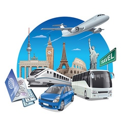 transport for travel vector image