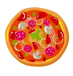 Icon of pizza slice with crust Dinner in Italian vector image