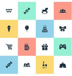 set of simple celebration vector image