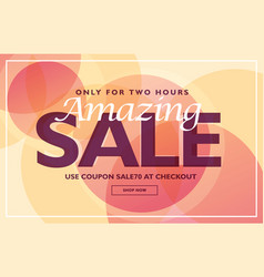 Amazing sale banner template design with soft vector