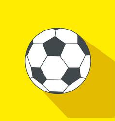 Soccer ball cartoon flat icon brazil vector