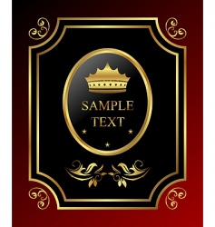 Golden royal label vector