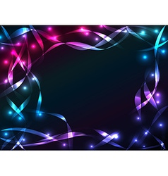 Shiny plasma ribbon background vector