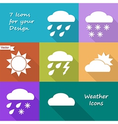 Colored icons design of weather forecast vector