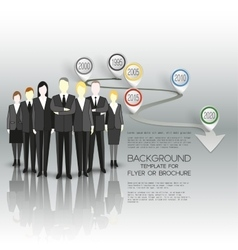 Group of a professional business team standing vector
