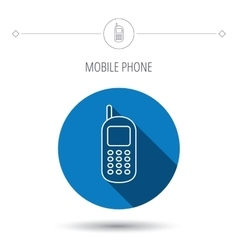 Mobile phone icon cellphone with antenna sign vector