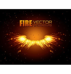 Fire digital design vector