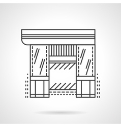 Hardware store flat line icon vector