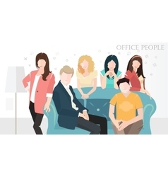 Flat office people flat design style vector