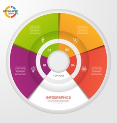 Circle infographic template 4 options vector