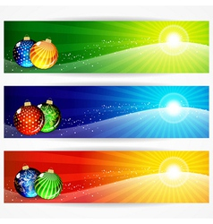 Abstract christmas banners for your design header vector