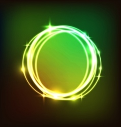 Abstract colorful circles neon background vector image vector image