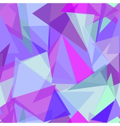 Abstract polygonal purple and blue triangular vector image vector image