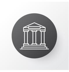 academy building icon symbol premium quality vector image vector image