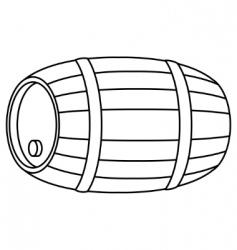 barrel wood contour vector image