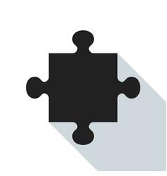 Black puzzle piece vector