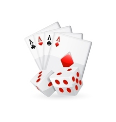 Cards isolated on white vector