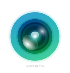 Colorful camera app vector image