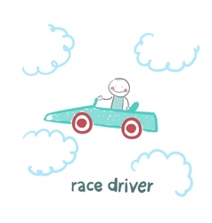 driver rides flies in the car vector image