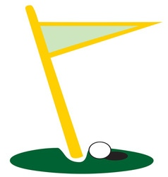 Golf flag hole vector