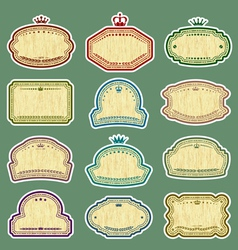 grunge labels set vector image vector image