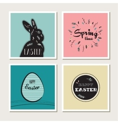 Happy Easter - set of stylish cards or invitations vector image