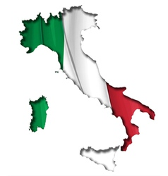 Italian Map Flag vector image vector image