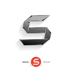 Letter s metal font elegant template for company vector