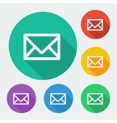 Mail icon simple envelope Flat design vector image vector image
