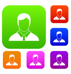 manager set collection vector image vector image