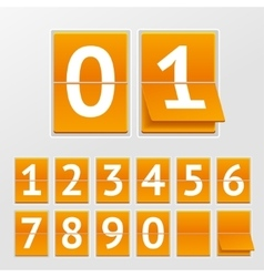 Mechanical timetable numbers vector