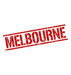 Melbourne red square stamp vector