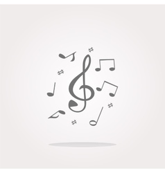 Music note Icon Music note Icon Picture vector image vector image