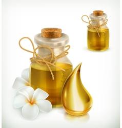 Oil spa icon vector image