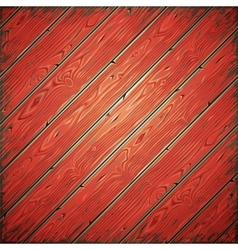 Red old wooden painted wall vector