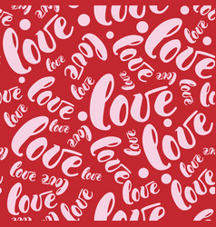 romantic red love pattern background vector image vector image