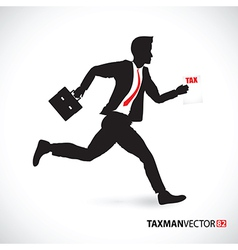 side business runner vector image vector image
