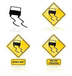Slippery road vector image vector image