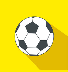 soccer ball cartoon flat icon brazil vector image vector image