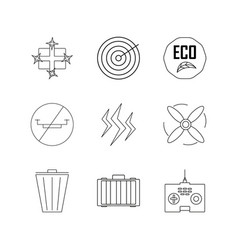 Technology linear icon set simple outline icons vector