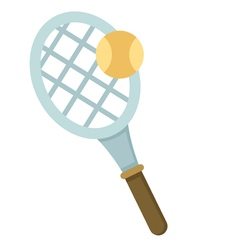 Tennis racket with balls vector