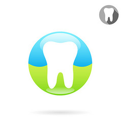 Tooth medical icon concept of a healthy teeth vector image vector image