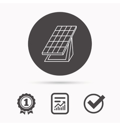 Solar collector icon sunlight energy battery vector