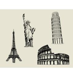 Sketch Landmarks vector image