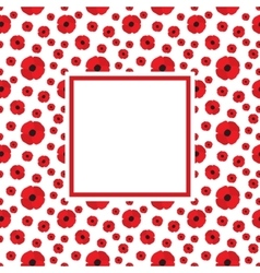 Poppies Frame vector image