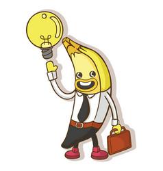 Concept cartoon business bananas vector